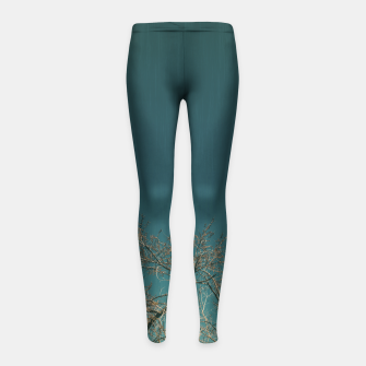 Thumbnail image of Tree branches Girl's leggings, Live Heroes