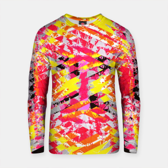 Thumbnail image of psychedelic geometric abstract pattern in red yellow black Cotton sweater, Live Heroes