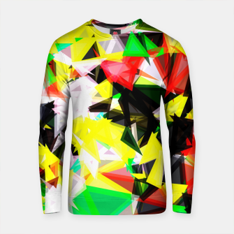 Thumbnail image of psychedelic geometric abstract pattern in green red yellow black Cotton sweater, Live Heroes