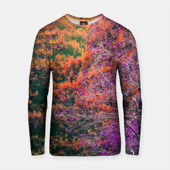 Thumbnail image of autumn tree in the forest in purple and brown Cotton sweater, Live Heroes
