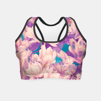 Thumbnail image of mangolia flowers Crop Top, Live Heroes