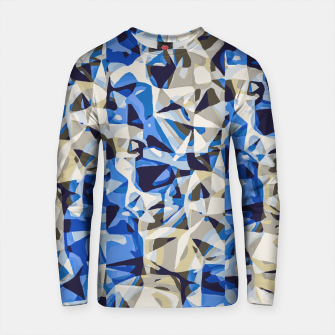 Miniaturka psychedelic geometric abstract pattern in blue and grey Cotton sweater, Live Heroes