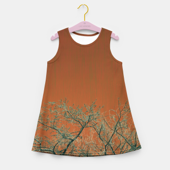 Miniaturka Tree branches 2 Girl's summer dress, Live Heroes