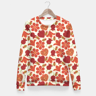 Imagen en miniatura de Pomegranate Honey Woman cotton sweater, Live Heroes
