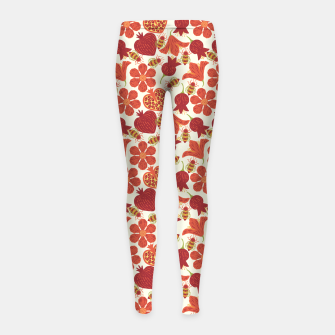 Imagen en miniatura de Pomegranate Honey Girl's leggings, Live Heroes