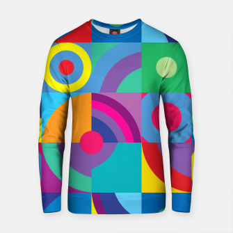 Thumbnail image of Geometric Figures in color Cotton sweater, Live Heroes
