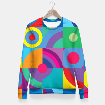 Thumbnail image of Geometric Figures in color Woman cotton sweater, Live Heroes
