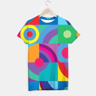 Thumbnail image of Geometric Figures in color T-shirt, Live Heroes