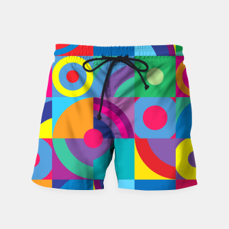 Thumbnail image of Geometric Figures in color Swim Shorts, Live Heroes