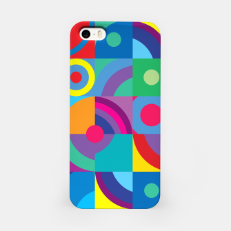 Thumbnail image of Geometric Figures in color iPhone Case, Live Heroes