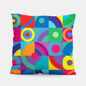 Thumbnail image of Geometric Figures in color Pillow, Live Heroes