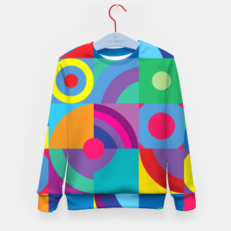 Thumbnail image of Geometric Figures in color Kid's sweater, Live Heroes