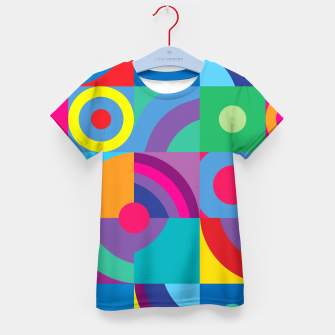 Thumbnail image of Geometric Figures in color Kid's t-shirt, Live Heroes