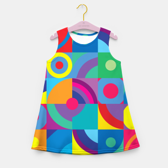 Thumbnail image of Geometric Figures in color Girl's summer dress, Live Heroes