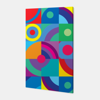 Thumbnail image of Geometric Figures in color Canvas, Live Heroes