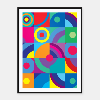 Thumbnail image of Geometric Figures in color Framed poster, Live Heroes
