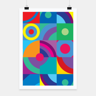 Thumbnail image of Geometric Figures in color Poster, Live Heroes