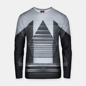 Miniature de image de The Hotel (experimental futuristic architecture photo art in modern black & white) Cotton sweater, Live Heroes