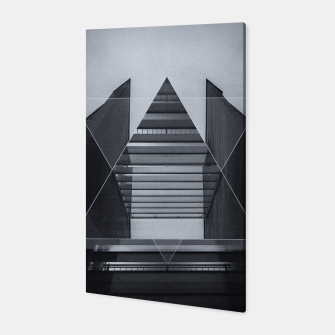Miniature de image de The Hotel (experimental futuristic architecture photo art in modern black & white) Canvas, Live Heroes