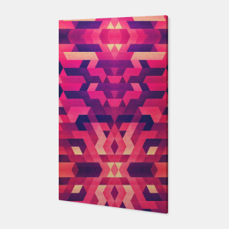 Miniature de image de Abstract Symertric geometric triangle texture pattern design in diabolic magnet future red Canvas, Live Heroes
