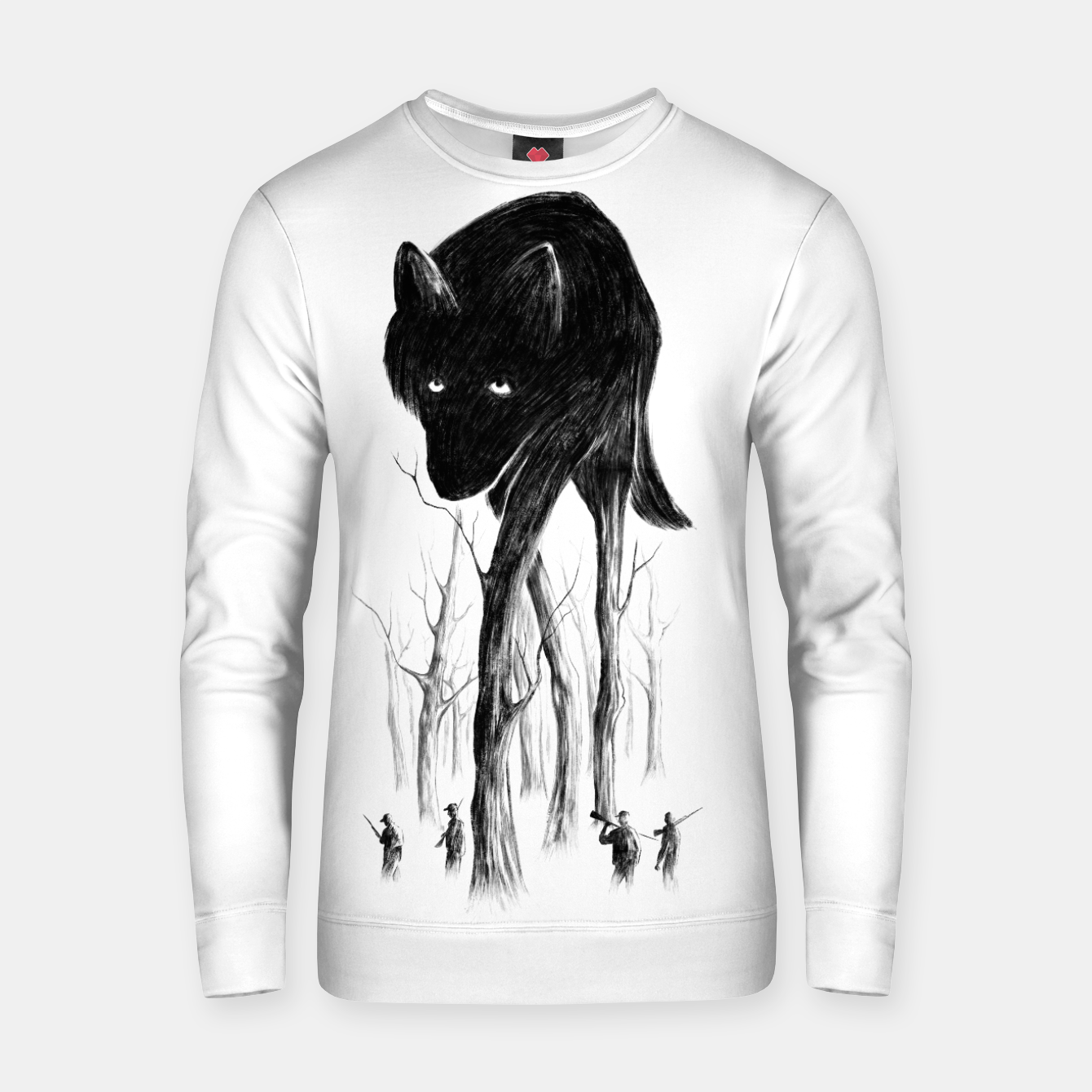 Image of GOOD WOLF HUNTING Cotton sweater - Live Heroes