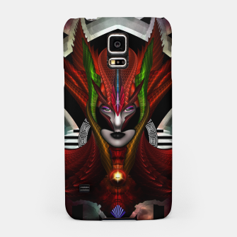 Thumbnail image of Red Dragon Taidushan Empress Fractal Portrait Samsung Case, Live Heroes