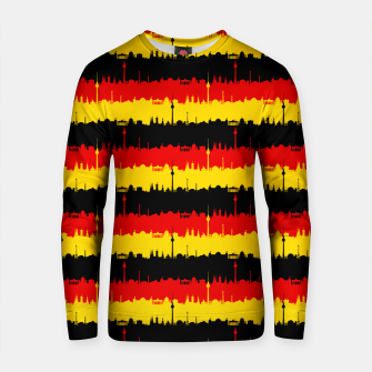 Thumbnail image of Germany Skyline Flag Repeating German Flag Red Cotton sweater, Live Heroes