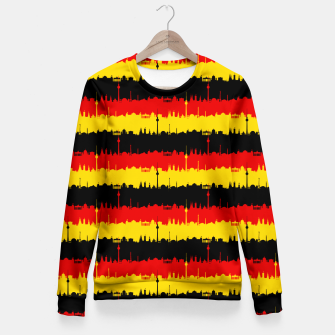 Thumbnail image of Germany Skyline Flag Repeating German Flag Red Woman cotton sweater, Live Heroes