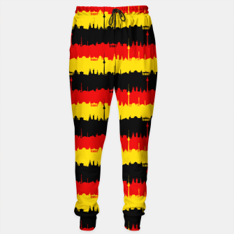 Thumbnail image of Germany Skyline Flag Repeating German Flag Red Cotton sweatpants, Live Heroes