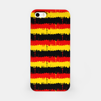Thumbnail image of Germany Skyline Flag Repeating German Flag Red iPhone Case, Live Heroes