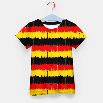 Thumbnail image of Germany Skyline Flag Repeating German Flag Red Kid's t-shirt, Live Heroes