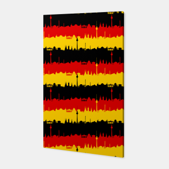 Thumbnail image of Germany Skyline Flag Repeating German Flag Red Canvas, Live Heroes