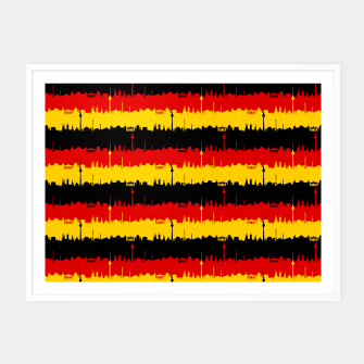 Thumbnail image of Germany Skyline Flag Repeating German Flag Red Framed poster, Live Heroes
