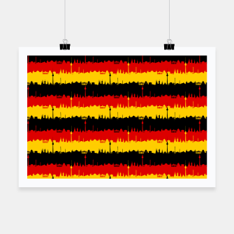 Thumbnail image of Germany Skyline Flag Repeating German Flag Red Poster, Live Heroes