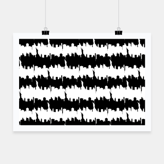 Thumbnail image of Black & White Stripes NYC New York Manhattan Skyline Silhouette Poster, Live Heroes