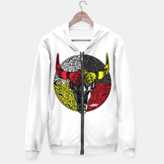 Thumbnail image of Medicine Shield  Cotton zip up hoodie, Live Heroes
