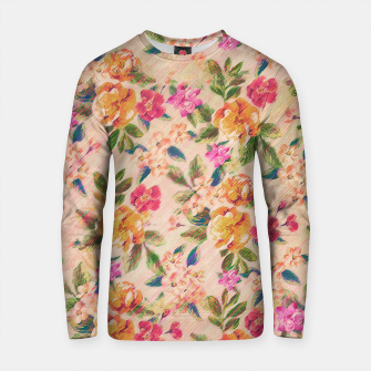Miniature de image de Golden Flitch (Digital Vintage Retro / Glitched Pastel Flowers - Floral design pattern) Cotton sweater, Live Heroes