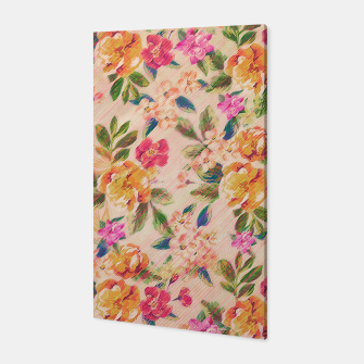 Miniature de image de Golden Flitch (Digital Vintage Retro / Glitched Pastel Flowers - Floral design pattern) Canvas, Live Heroes