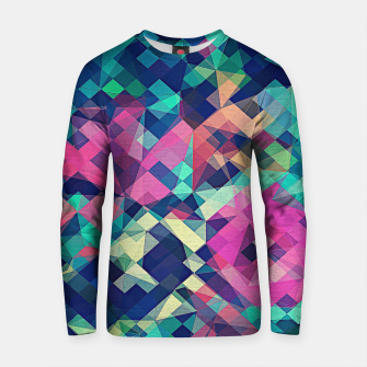 Miniature de image de Fruity Rose - Fancy Colorful Abstraction Pattern Design (green pink blue) Cotton sweater, Live Heroes