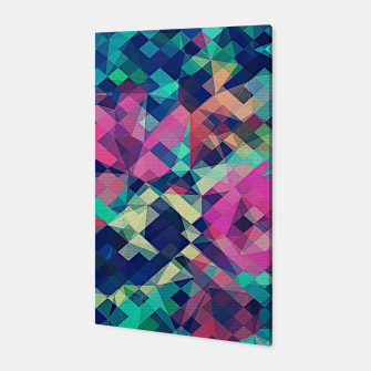 Miniature de image de Fruity Rose - Fancy Colorful Abstraction Pattern Design (green pink blue) Canvas, Live Heroes