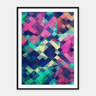 Miniaturka Fruity Rose - Fancy Colorful Abstraction Pattern Design (green pink blue) Framed poster, Live Heroes