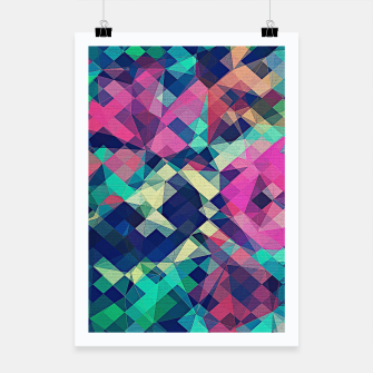 Miniaturka Fruity Rose - Fancy Colorful Abstraction Pattern Design (green pink blue) Poster, Live Heroes
