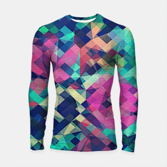 Thumbnail image of Fruity Rose - Fancy Colorful Abstraction Pattern Design (green pink blue) Longsleeve rashguard , Live Heroes