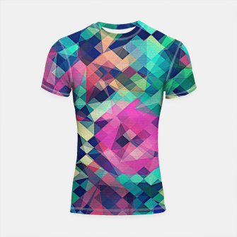 Miniaturka Fruity Rose - Fancy Colorful Abstraction Pattern Design (green pink blue) Shortsleeve rashguard, Live Heroes