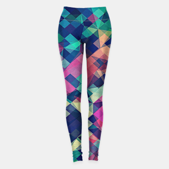 Miniaturka Fruity Rose - Fancy Colorful Abstraction Pattern Design (green pink blue) Leggings, Live Heroes