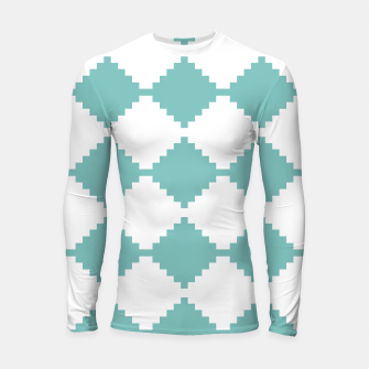 Miniaturka Abstract geometric pattern - blue and white. Longsleeve rashguard , Live Heroes