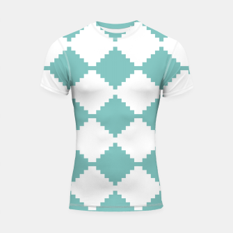 Miniaturka Abstract geometric pattern - blue and white. Shortsleeve rashguard, Live Heroes