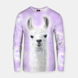 Thumbnail image of Superstar Llama Cotton sweater, Live Heroes