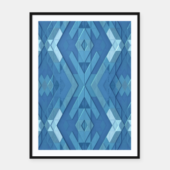 Thumbnail image of Blue Geometry Framed poster, Live Heroes