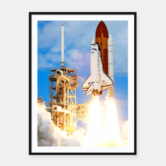 Thumbnail image of DISCOVERY LAUNCH Framed poster, Live Heroes